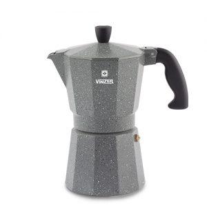 Гейзерная кофеварка Vinzer Moka Granito на 6 чашек