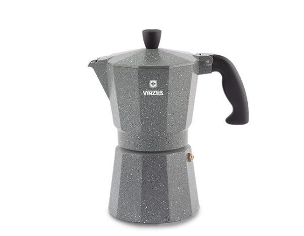 Гейзерная кофеварка Vinzer Moka Granito на 9 чашек